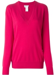 Tomas Maier V Neck Sweater Pink And Purple
