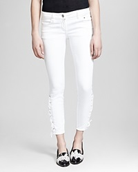 The Kooples Jeans Lace Up In White