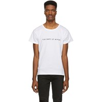 Nasaseasons White 'You Can't Sit With Us' T Shirt