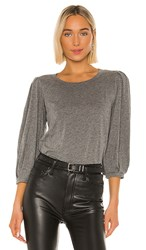Velvet By Graham And Spencer Joanna Blouse In Gray. Medium Heather Grey