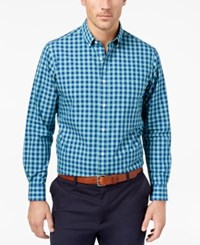 Club Room Men's Gingham Shirt Created For Macy's Catalina