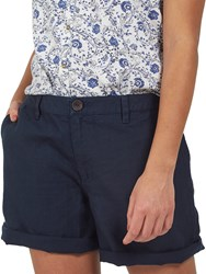 Fat Face Linen Shorts Navy