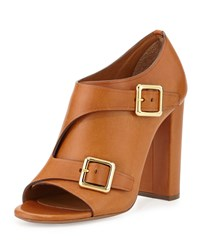 Chloe Chloe Double Monk Strap Leather Bootie Brown