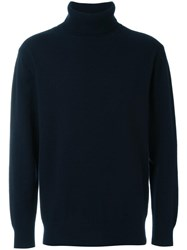Soulland 'Rhodes' Turtleneck Sweater Blue