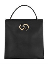 Dsquared Dd Logo Brushed Leather Tote Bag