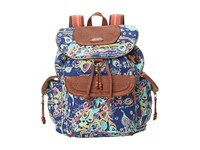 Sakroots Artist Circle Flap Backpack Denim Songbird Backpack Bags Multi