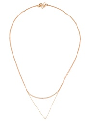 Wouters And Hendrix Gold Layered Diamond Necklace Metallic
