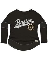 Retro Brand Women's Boston Bruins Faceoff Thermal Long Sleeve T Shirt Black