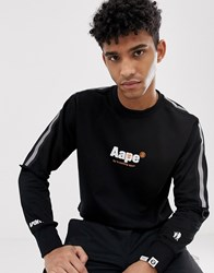 Aape By A Bathing Ape Loose Fit Sweatshirt With 3M Taping In Black