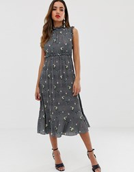 Ted Baker Toppaz Oracle Pleated Midi Dress Grey