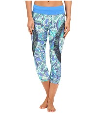 Maaji Cyanne Forest Active Capris Multicolor Women's Capri