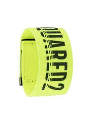 Dsquared2 Logo Strap Bracelet Yellow