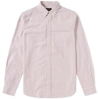Beams Plus Button Down Candy Stripe Shirt White