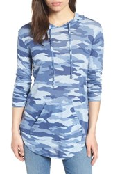 Vince Camuto Avenue Camouflage Hoodie Light Chambray Heather