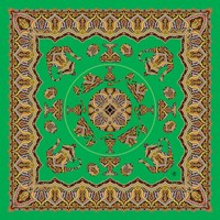 St. Petersburg Global Trade House Traditions Of Faberge Silk Scarf Shawl Green