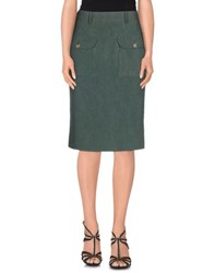 Jo No Fui Skirts Knee Length Skirts Women Military Green