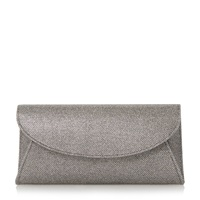 Untold Beray Fold Over Glitter Clutch Bag Pewter