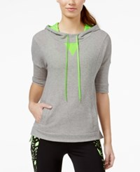 Energie Active Juniors' Contrast Open Back Short Sleeve Hoodie