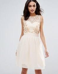 Little Mistress Lace Beaded Prom Dress White