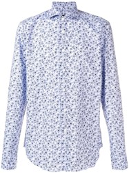 Dell'oglio Floral Print Shirt Blue