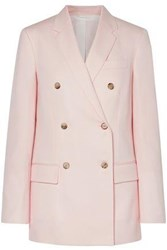 Calvin Klein 205W39nyc Woman Double Breasted Wool Twill Blazer Baby Pink