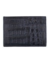 Walter Steiger Crocodile Card Holder Navy
