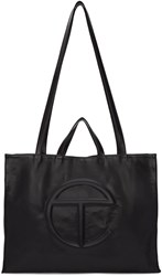 Telfar Black Large Logo Tote Bag