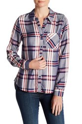 Como Vintage Long Sleeve Plaid Shirt Blue