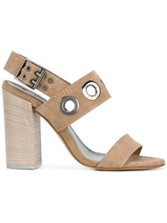 Diesel High Heel Sandals Nude Neutrals