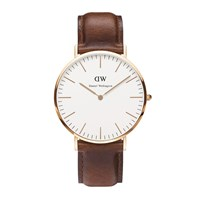 Daniel Wellington Classic St Mawes Rose Gold Watch Tan