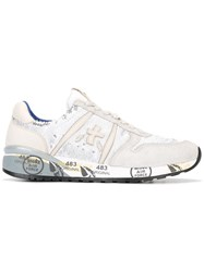 Premiata Sequinned Detail Sneakers White