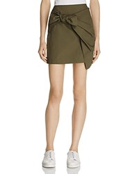 Lush Tie Front Mini Skirt Olive