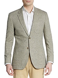 English Laundry Regular Fit Textured Silk Sportcoat Beige