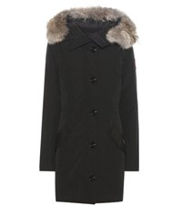 Canada Goose Rossclair Fur Trimmed Parka Black