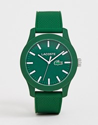 Lacoste Silicone Watch In Green