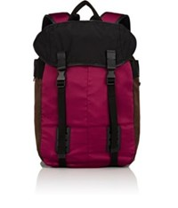 Lanvin Men's Colorblocked Flap Front Backpack Burgundy