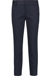 Alice Olivia Stacey Cropped Cotton Blend Pants Storm Blue