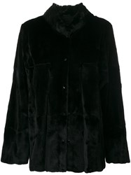 Liska Long Jacket Unisex Silk Weasel One Size Black