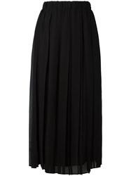 Gucci Vintage Pleated Midi Skirt Black