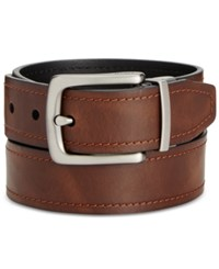 Fossil Parker Reversible Leather Belt Brown Black