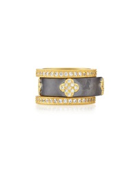Freida Rothman Belargo Set Of Three Pave Clover Stackable Rings Size 7