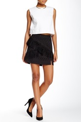 Wayf Fringe Skirt Black