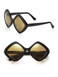 Cutler And Gross 58Mm Diamond Sunglasses Black