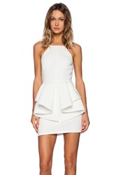 Oh My Love Peplum Mini Dress Ivory