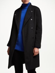 John Lewis Funnel Wrap Coat Black