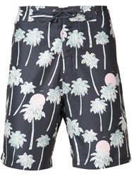 Wesc Zander Hawaii Boardshorts Men Polyester L Black