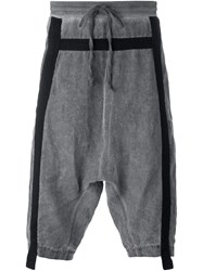 Lost And Found Rooms Drop Crotch Track Shorts Grey