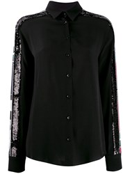 Iceberg Sequin Panelled Sleeve Shirt Black
