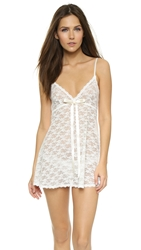 Hanky Panky Peek A Boo Lace Baby Doll With G String Light Ivory