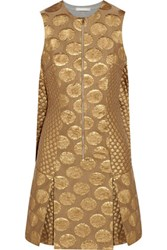 Richard Nicoll Metallic Jacquard Dress Gold